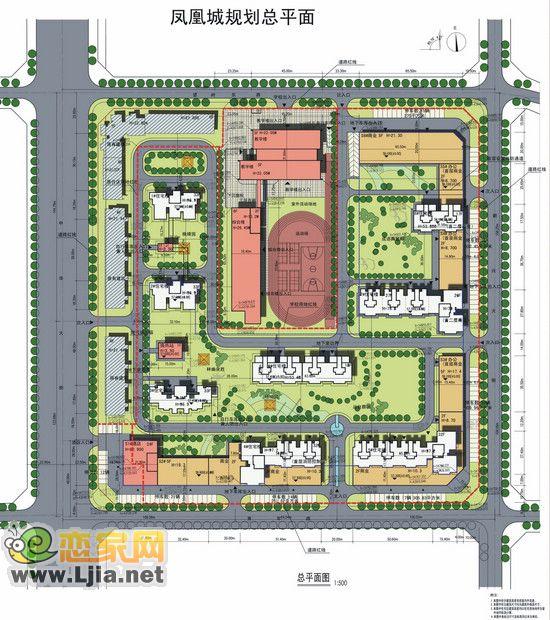 力天凤凰城总平面图 力天凤凰城共建住宅楼共8栋,其中1、2、3号楼为33层,4、5号楼为32层,6号为18层 ,7号楼为27层,8号楼为17层。户型面积从50至130平方米。商业部分位于青年路、新兴大街及望岭路上。由两层临街商铺及两栋五层商业楼组成。面积从15至500平方米。在充分考虑采光通风原理,兼顾朝向、动静分区、干湿分离、私密性、归属性等各种居住需求的情况下,住宅面积由50至130平方米。