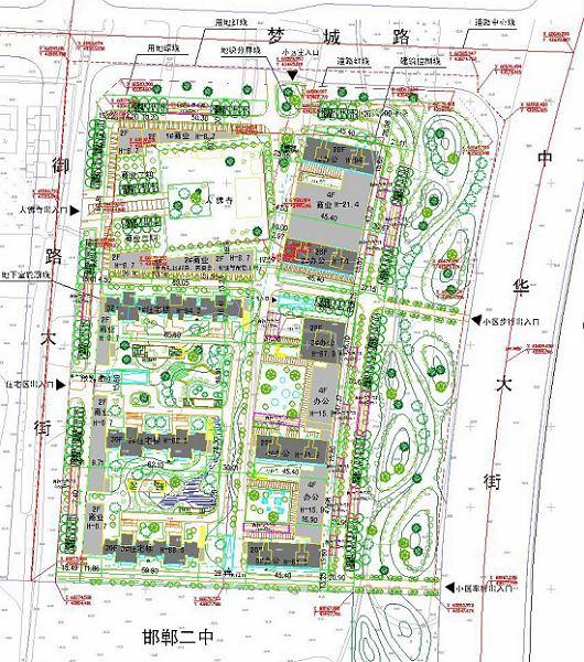 邯郸市安联房地产拟建安联印象商住小区端午节平面设计创意图片