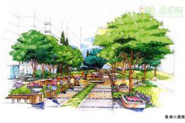 金世纪花园景观透视图