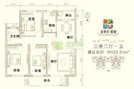 金世纪花园5#楼1-04/2-01
