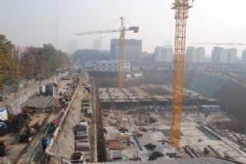 卓昱大厦施工现场(2011.11.10)