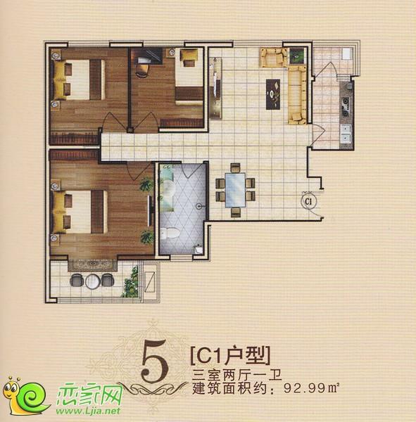 旺峰嘉苑C1户型