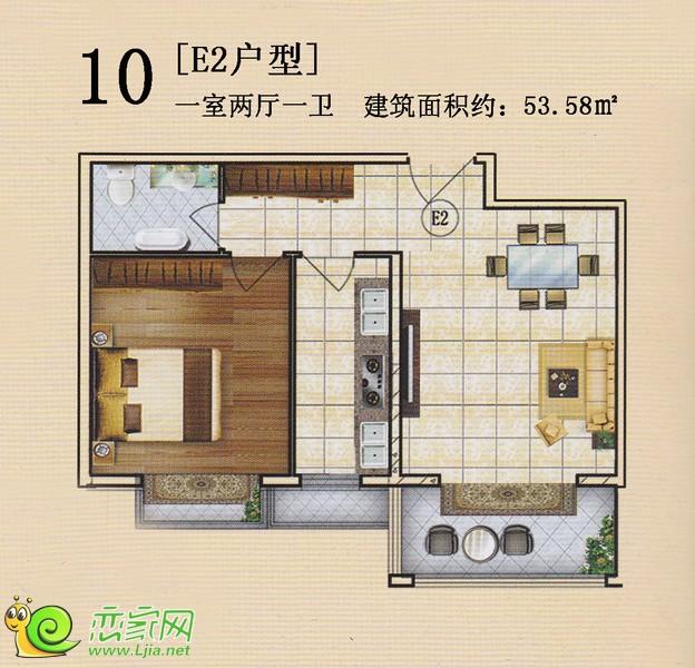 旺峰嘉苑E2户型