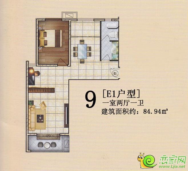 旺峰嘉苑E1户型
