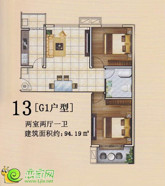 旺峰嘉苑G1户型