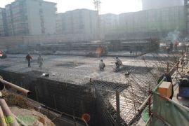 新城国际车库工程进度实景图(2014.01.06)