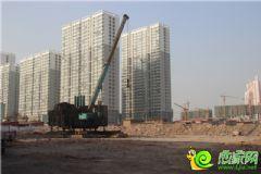 万达第宅项目工地正在打桩(2014.01.13)