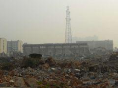 10月29万达第宅正在做最后拆迁任务
