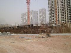 锦绣江南3#楼正在做地下1层(2013.03.08)