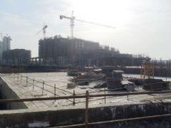 金世纪花园施工现场(2012.02.08)