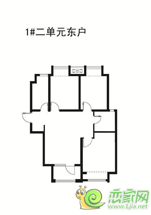 阿尔卡迪亚阳光苑1#楼 三室两厅一卫