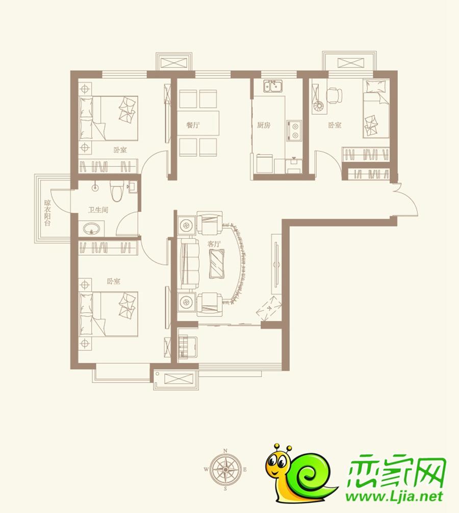 赵都新城户型图D1