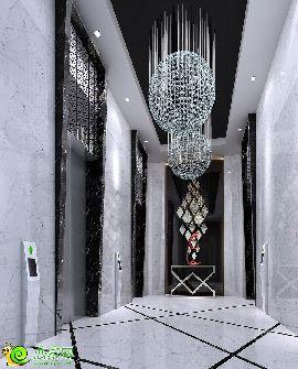 公館電梯廳豪裝效果圖