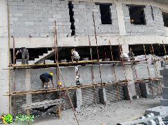 二期紧张施工(2014.07.21)