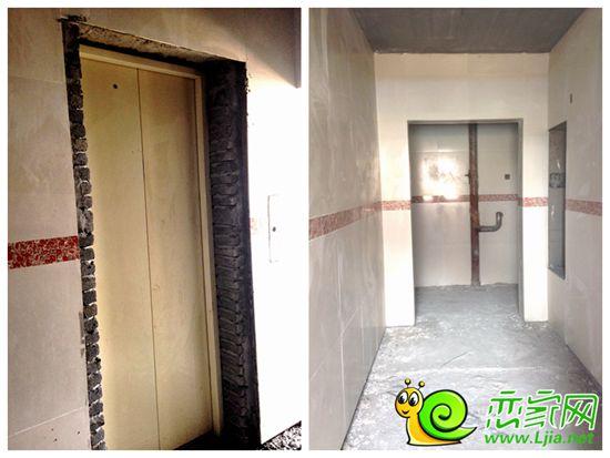 北海庄园二期景园部分楼座电梯已安装好