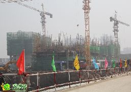 龙仕公园里工地实景(2014.8.21)
