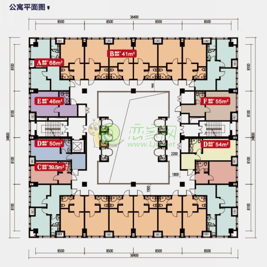 联邦御景江山公寓平面图