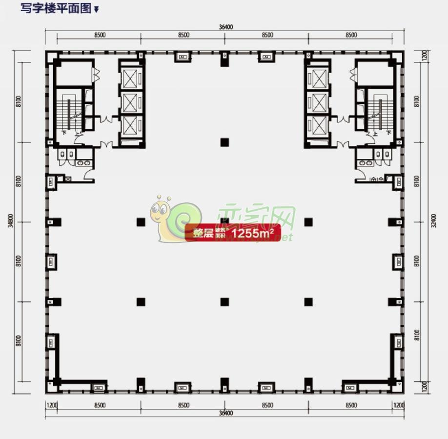 联邦御景江山写字楼平面图