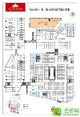 中山时代广场二层A/B/D区平面布局图
