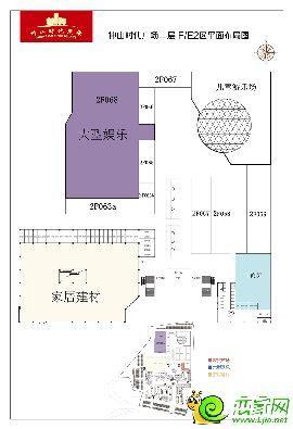 中山时代广场二层F/E2区平面布局图