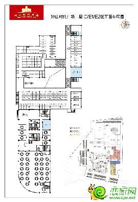 中山时代广场二层C/E1/E2区平面布局图