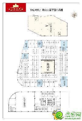 中山时代广场三层平面布局图