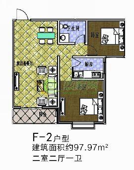 盛锦花园F-2户型