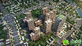 铂尔缦国际公馆鸟瞰图