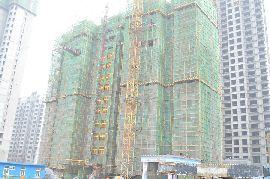 江南锦苑景图12#楼已出地面14层左右(2015.08.09)