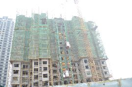 江南锦苑景图14#楼已出地面16层左右(2015.08.09)