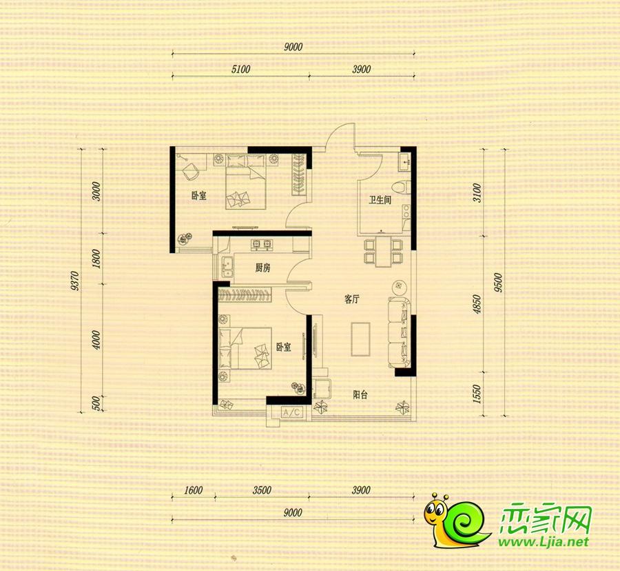西苑10#楼中户93㎡