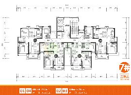 美的时代城7号楼2单元户型图