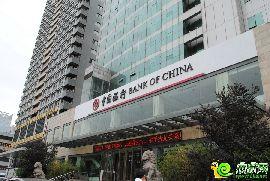 勒泰中心對過的中國銀行
