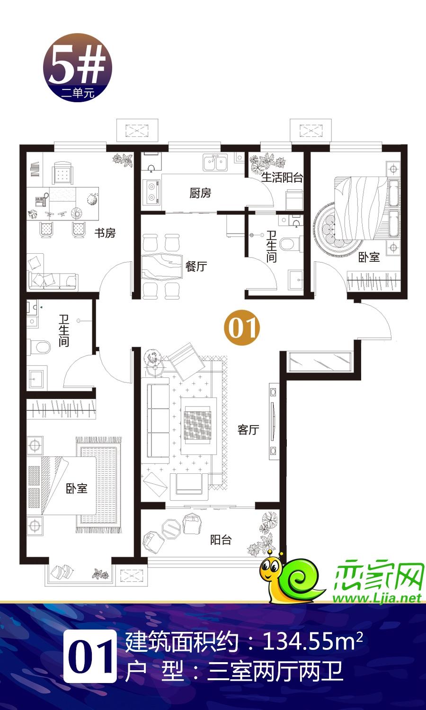 5#楼2单元01户型
