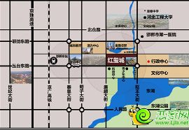 万浩红玺城区位图