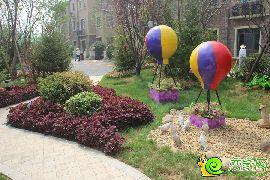 园林实拍热气球