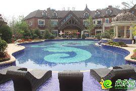 园林实拍泳池