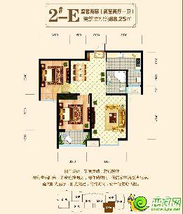 东方新城二期2#楼88.25�O