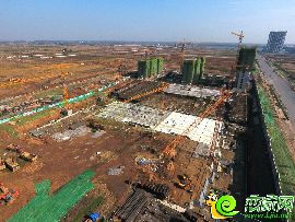 俯拍萬浩紅璽城施工實景圖(2016.11.08)