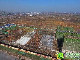 俯拍万浩红玺城施工实景图(2016.11.08)