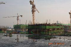 7号楼主体建筑建设至二层;