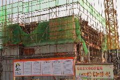 8号楼主体建筑建设至二层;