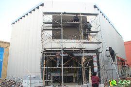 美的梧桐林语城市展厅正在建设