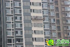 工人吊篮施工(2016.11.19)