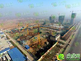 万浩红玺城航拍工地实景图(2016.12.7)