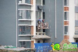 工人吊篮施工(2016.12.02)