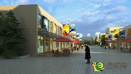 项目内街商铺效果图