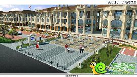 东商业街-广场效果图