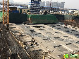 万浩红玺城工地实景图(2017.2.23)