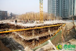 盛锦花园工地实景(2017.2.18)